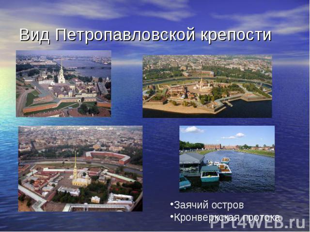 Вид Петропавловской крепости Заячий островКронверкская протока