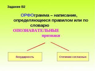 ОРФОграмма – написание, определяющееся правилом или по словарю ОПОЗНАВАТЕЛЬНЫЕ п