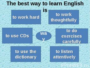The best way to learn English is