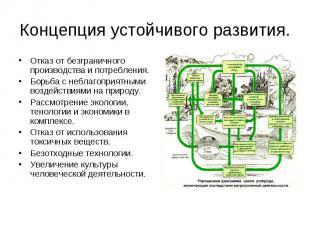 Концепция устойчивого развития. Отказ от безграничного производства и потреблени