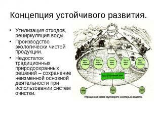 Концепция устойчивого развития. Утилизация отходов, рециркуляция воды.Производст