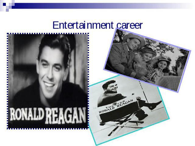 Entertainment career