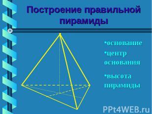 Построение правильной пирамиды