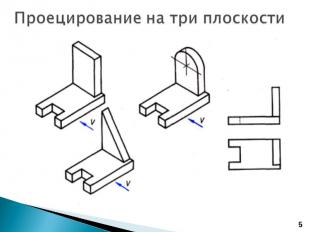Проецирование на три плоскости