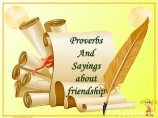 Proverbs AndSayingsaboutfriendship