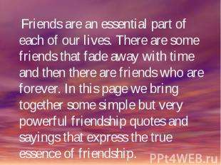 Friends are an essential part of each of our lives. There are some friends that