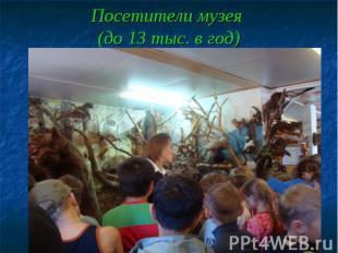 Посетители музея (до 13 тыс. в год)