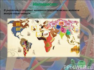 Интересно: В различных странах названия синтетических волокон могут отличаться: