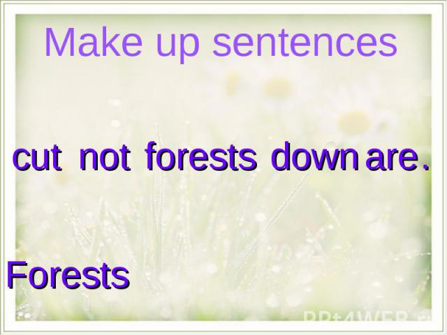 Make up sentences Forests