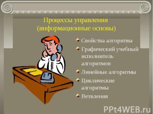 Процессы управления (информационные основы) Свойства алгоритмаГрафический учебны