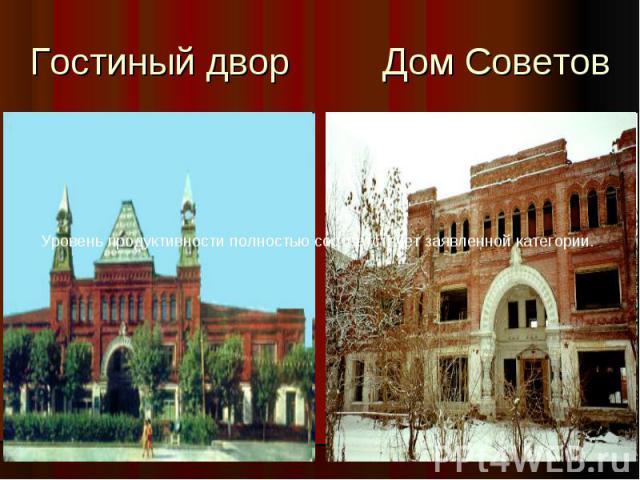Гостиный двор Дом Советов