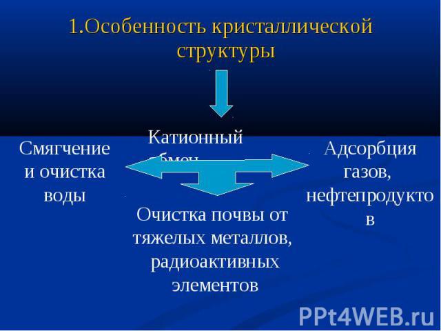 1.Особенность кристаллической структуры Очистка почвы от тяжелых металлов, радиоактивныхэлементов