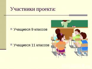 Участники проекта: Учащиеся 9 классовУчащиеся 11 классов