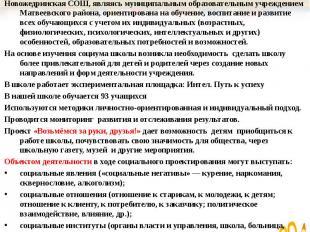 Новожедринская СОШ, являясь муниципальным образовательным учреждением Матвеевско
