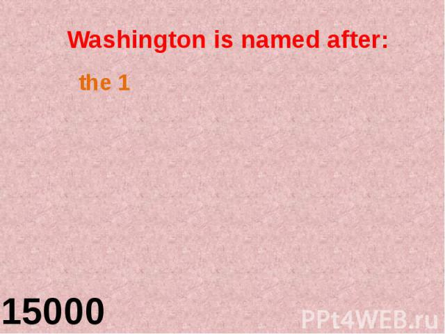 Washington is named after: