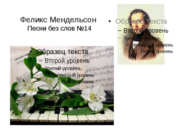 Феликс Мендельсон Песни без слов №14