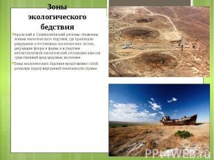 Аральский и Семипалатинский регионы объявлены зонами экологического бедствия, гд