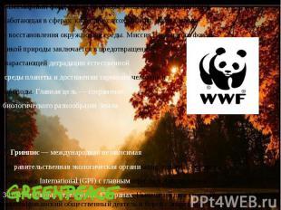 4.Всемирный фонд дикой природыобщественная организация, 4.Всемирный