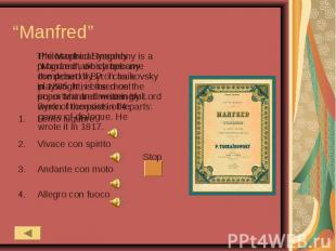 """""""Manfred"""" Philosophical tragedy """"Manfred"""", which became the debut of Byron as a"""