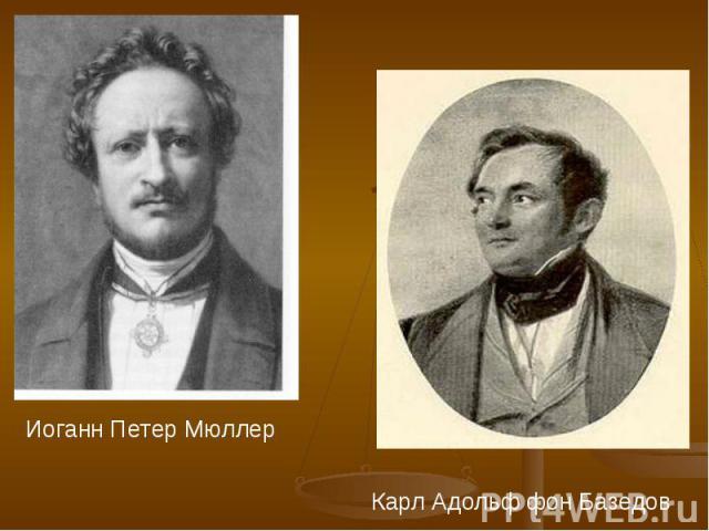 Иоганн Петер Мюллер Карл Адольф фон Базедов
