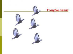 Голуби летят