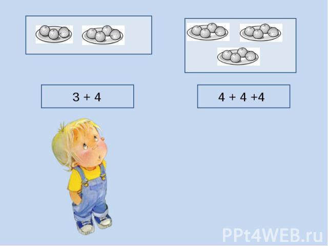 3 + 4 4 + 4 +4