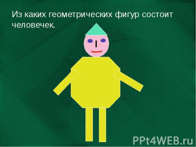 Из каких геометрических фигур состоит человечек.
