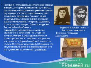 Екатерина Георгиевна была известна как строгая женщина, но горячо любившая сына;