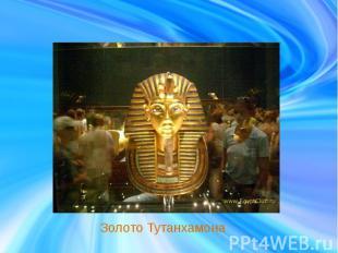 Золото Тутанхамона
