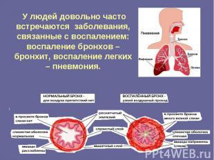У людей довольно часто встречаются заболевания, связанные с воспалением: воспале