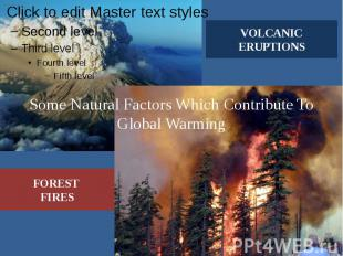 Some Natural Factors Which Contribute To Global Warming
