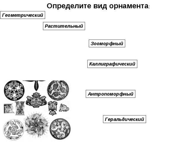 Определите вид орнамента: