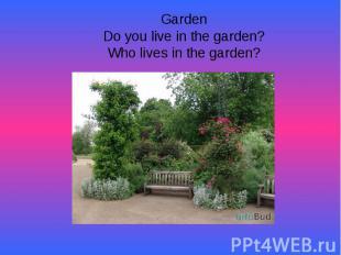 GardenDo you live in the garden?Who lives in the garden?