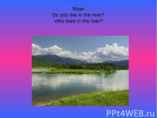 RiverDo you live in the river?Who lives in the river?