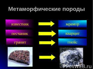 Метаморфические породы