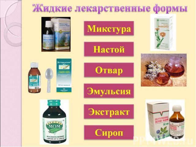 Жидкие лекарственные формы