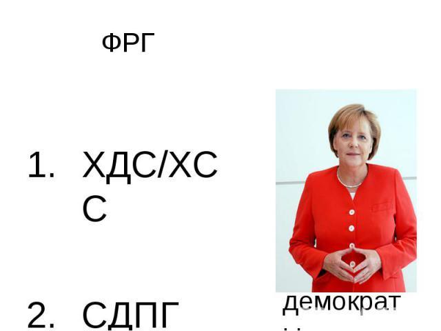 ФРГ ХДС/ХСССДПГ
