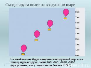 Смоделируем полет на воздушном шаре На какой высоте будет находиться воздушный ш