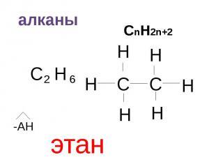 алканы СnH2n+2 этан