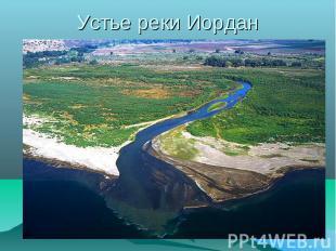 Устье реки Иордан