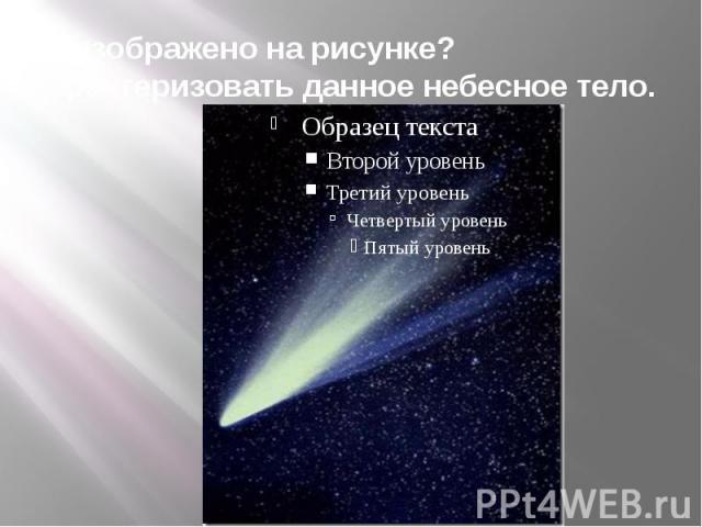Что изображено на рисунке? Охарактеризовать данное небесное тело.