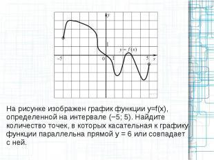 На рисунке изображен график функции y=f(x), определенной на интервале (−5; 5). Н