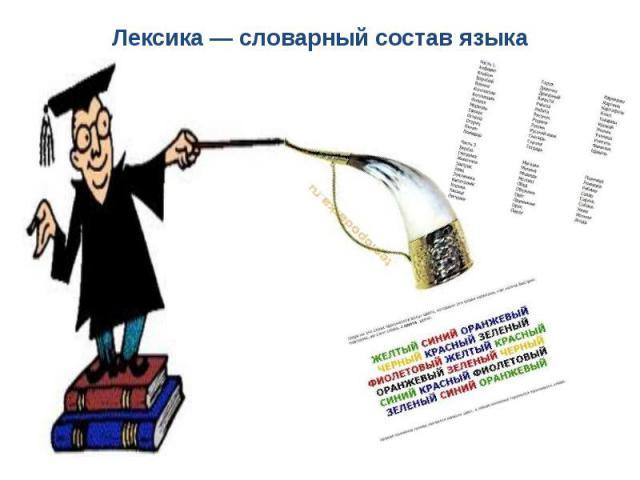 Лексика — словарный состав языка