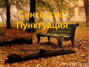 Синтаксис. ПунктуацияУрок русского языка в 5 классе