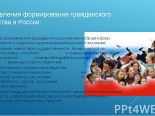 направления формирования гражданского общества в России: создание экономического