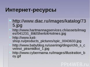Интернет-ресурсы http://www.diac.ru/images/katalog/735.jpghttp://www.hartmannags