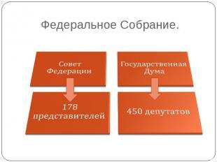 Федеральное Собрание. Совет ФедерацииГосударственная Дума178 представителей450 д