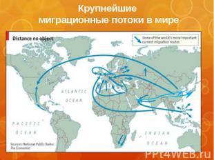 Крупнейшие миграционные потоки в мире