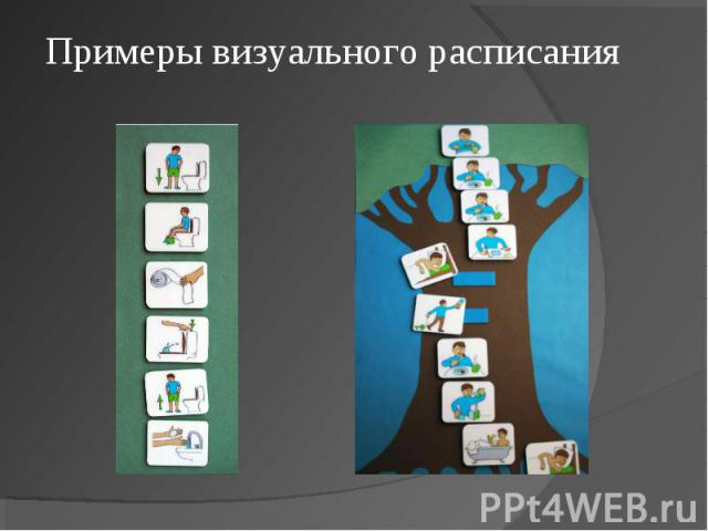Примеры визуального расписания