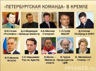 «Петербургская команда» в кремле
